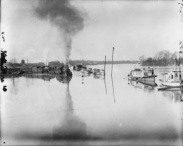 2010.030.PC29.18--lee hastman collection 8x10 print--ICRR--Co Photo view of steam locomotive 0-6-0 183 leading passenger train through flood waters--location unknown--no date