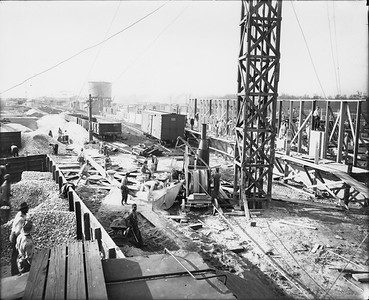 2010.030.PC99.24--lee hastman collection 8x10 print--ICRR--Co Photo view of constructuib scene--location unknown--no date
