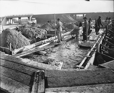 2010.030.PC99.23--lee hastman collection 8x10 print--ICRR--Co Photo view of construction scene--location unknown--no date