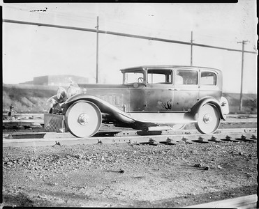 2010.030.PC25.10--lee hastman collection 8x10 print--ICRR--Co Photo view of track inspection automobile--location unknown--no date