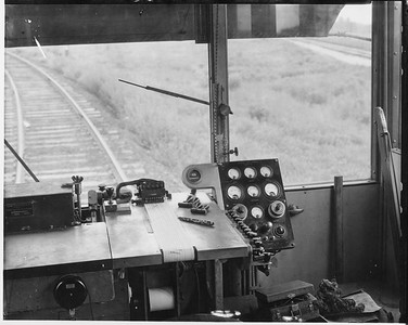 2010.030.PC25.22--lee hastman collection 8x10 print--ICRR--Co Photo view of Rail Detector Car DC1 interior--location unknown--no date