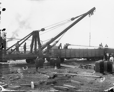 2010.030.PC25.29--lee hastman collection 8x10 print--ICRR--Co Photo view of bridge crane action--location unknown--no date