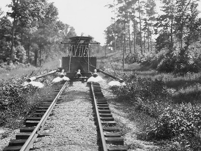 2010.030.PC25.17--lee hastman collection 8x10 print--ICRR--Co Photo view of weed burner--location unknown--no date
