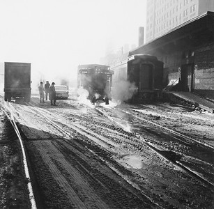 2010.030.PC25.18--lee hastman collection 8x10 print--ICRR--Co Photo view of weed burner thawing fozen track--Chicago IL--no date