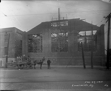 roundhouse under construction--Louisville KY