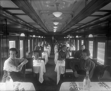 dining car interior with people--no location