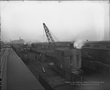 coaling station with locomotive crane--Cairo IL