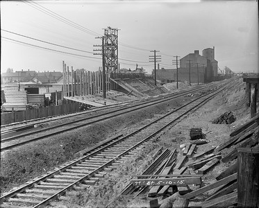 track construction at 79th Street--Chicago IL