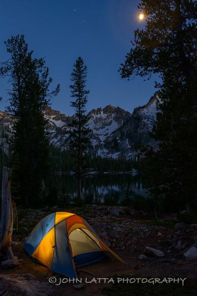 Camp Under Moonlight