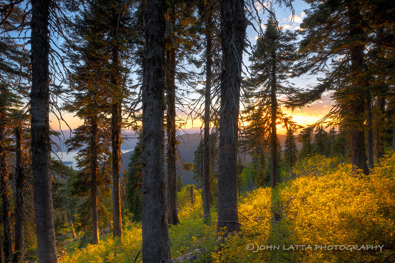 Sunset Above Pend Oreille Lake