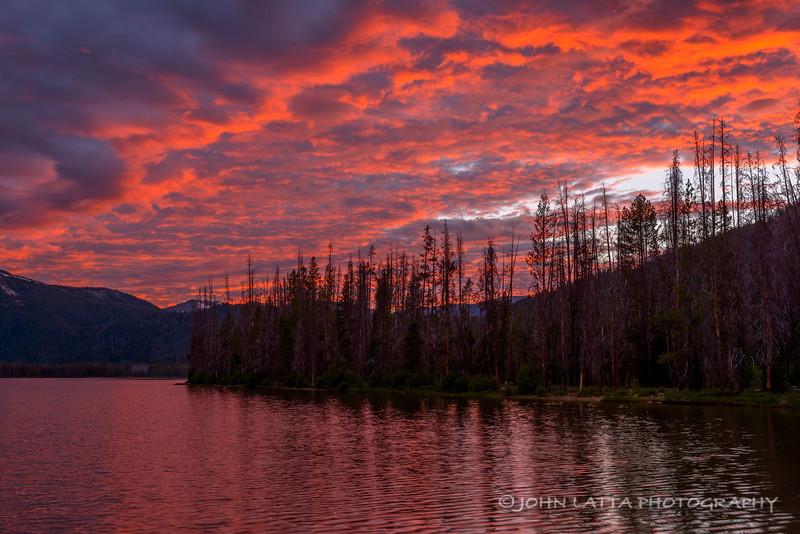 Sunset at Stanley Lake