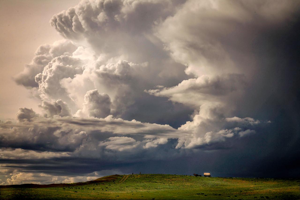Camas Prairie Clouds and Sheepwagon