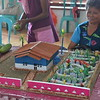 The 3D image was a process prior of making the actual home garden at each homes. During the permaculture training, there was one section on garden design and each participant made a 3D design to have a better look and better scale of the actual garden. Thus, the 3D designs were presented / showed during village exhibitio