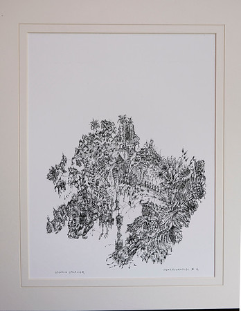 IDeasyncrasy X.  Quill Pen and Ink.  Image W7 x H7.  Signed, available as Giclée in limited edition of 10.