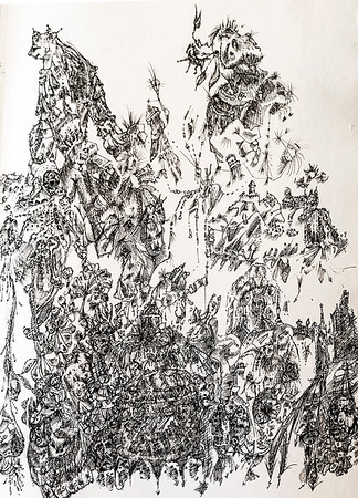 IDeasyncrasies VIII.  Quill Pen and Ink.  W11 x H14 Signed, available as Giclée in limited edition of 10.