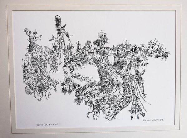 IDeasyncrasie IV.   W11 x H8.  Quill Pen and Ink.  Signed, available as Giclée in limited edition of 10.