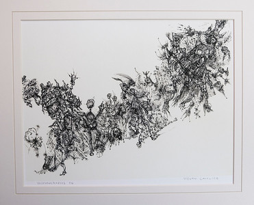 IDeasyncrasies I.  Quill Pen and Ink.  W12 x H8.5.  Signed, available as Giclée in limited edition of 10.