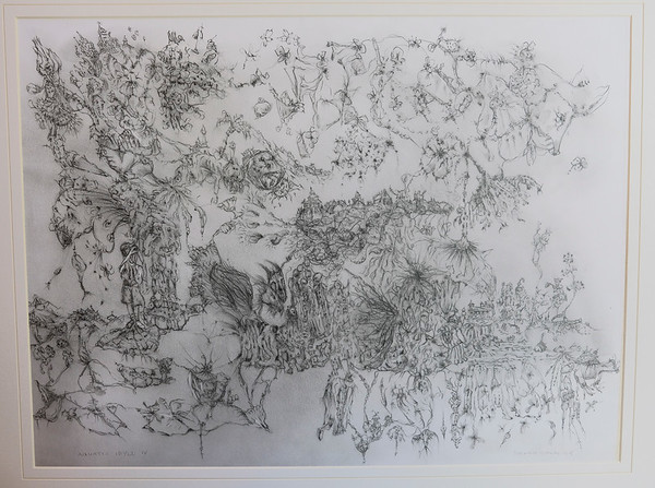 Aquatic IDyll IV.  Graphite.  W23.8 x H17.5 Signed.  Available as Giclée in limited edition of 10.