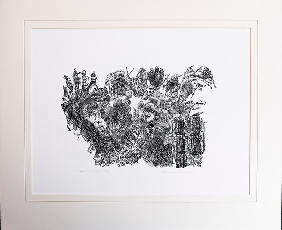 IDeasyncrasies II.  Quill Pen and Ink.  Signed, available as Giclée in limited edition of 10.