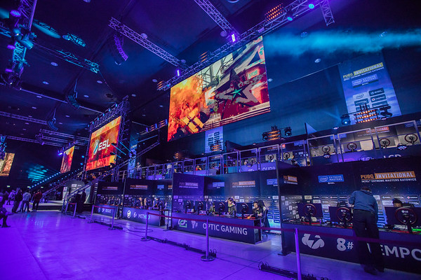 The stage of the 2018 Intel Extreme Masters' PUBG Invitational