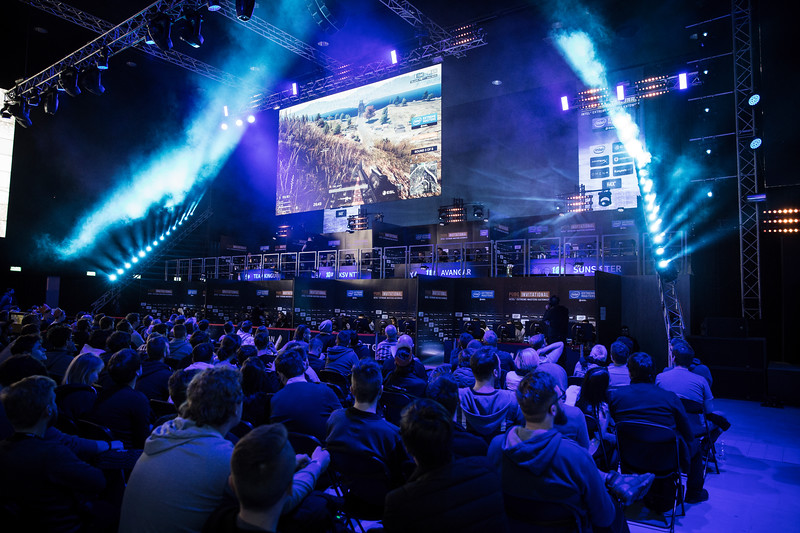 The Crowd of the 2018 Intel Extreme Master's PUBG Invitational witnesses the action on stage.