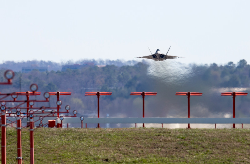 F-22 Delivery Flight, March 3, 2017, DM; Marietta Photo by Andrew McMurtrie