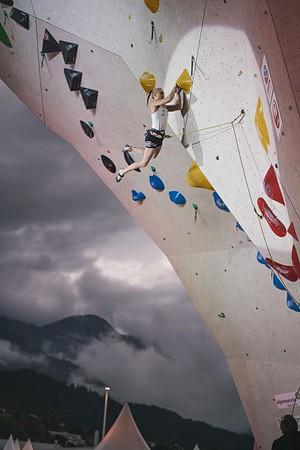 IFSC World Cup Lead Finals in Innsbruck, June 2021   ©Lena Drapella