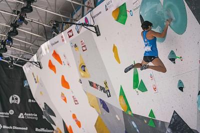 IFSC World Cup Boulder Semis in Innsbruck, June 2021 | ©Lena Drapella
