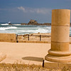 View to the harbor at Caesarea