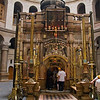Front of the tomb of Christ at Church of the Holy Sepulchre