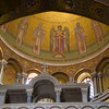 Inside of one of the domes at the Church of the Holy Sepulchre