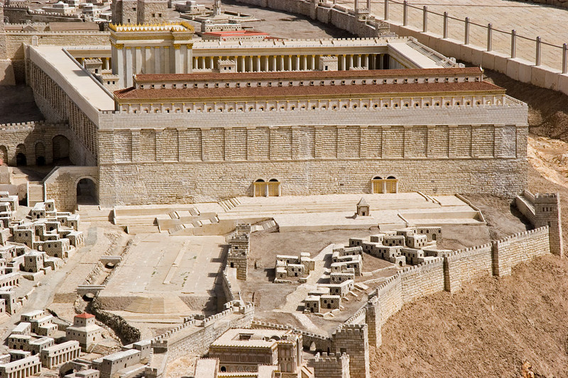 2nd Temple Model-southern wall and Teaching Steps