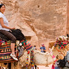 Veronica on a camel at Petra 02