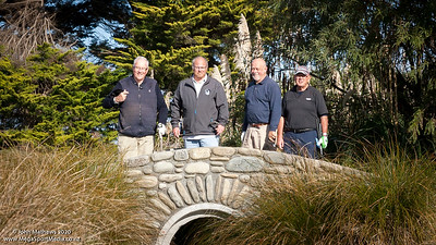 Image of Ian Waddell, Joe Gray, Andrew King and Fraser Smith taken at Royal Wellington Golf Club, Heretaunga, Wellington, New Zealand, on 9 August 2020.   Copyright John Mathews 2020   +64 2744 54321