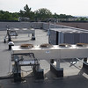 Liebert condensing unit 1 in foreground, Carrier rooftop unit to right, Liebert condensing unit 3 in background.