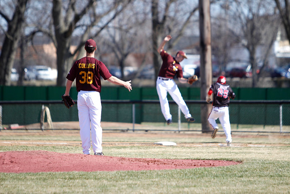RACHEL LEATHE/ THE COURIER<br /> <br /> 031116 031116 IHCC v. Ridgewater College Minnesota Baseball at the Legion Field Friday afternoon