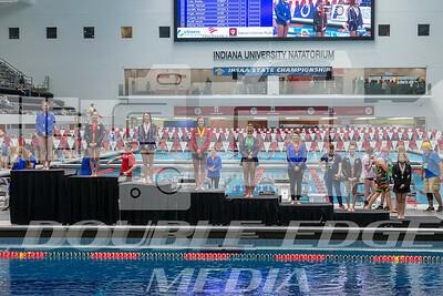 1m Springboard diving winners podium
