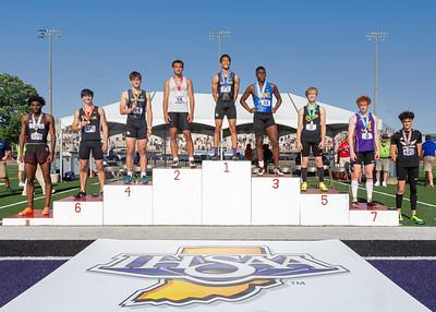 110 hurdles podium