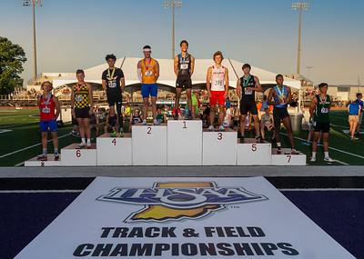 300 hurdles podium