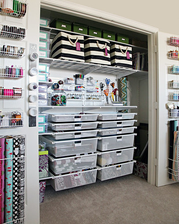 Ulitmate Craft Closet Organization