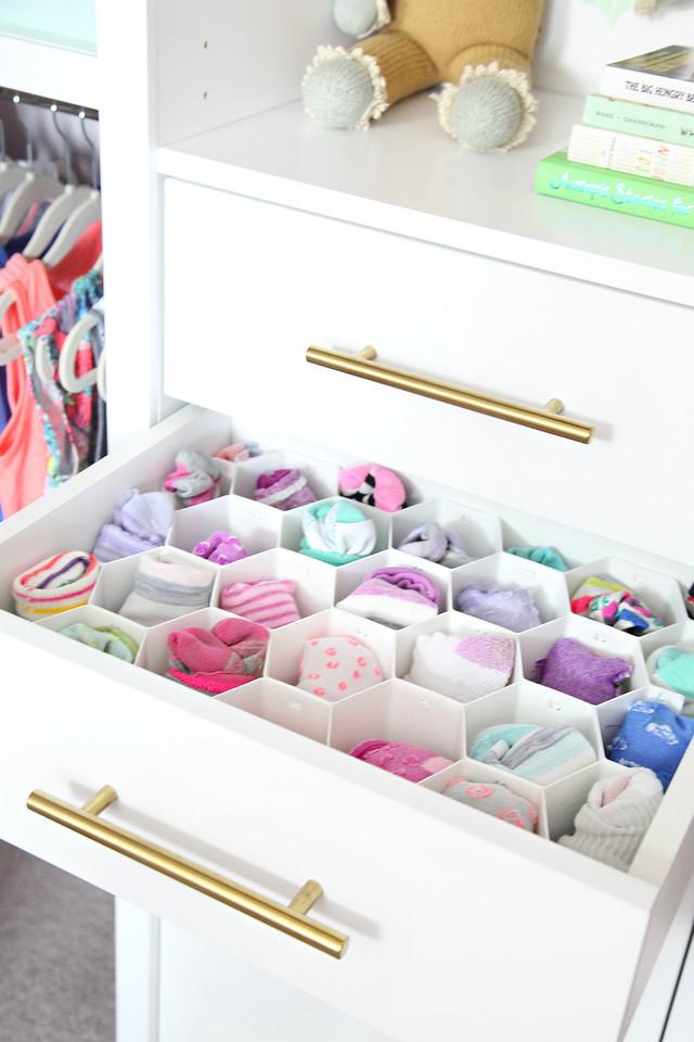 Organized Girl's Bedroom Closet