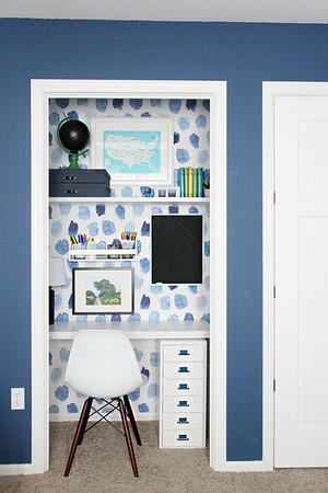Boy's Bedroom Homework Desk