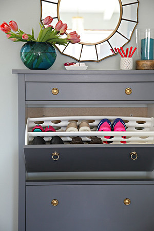 Painted IKEA Shoe Cabinet
