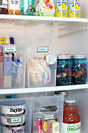 Side-By-Side Fridge Organization