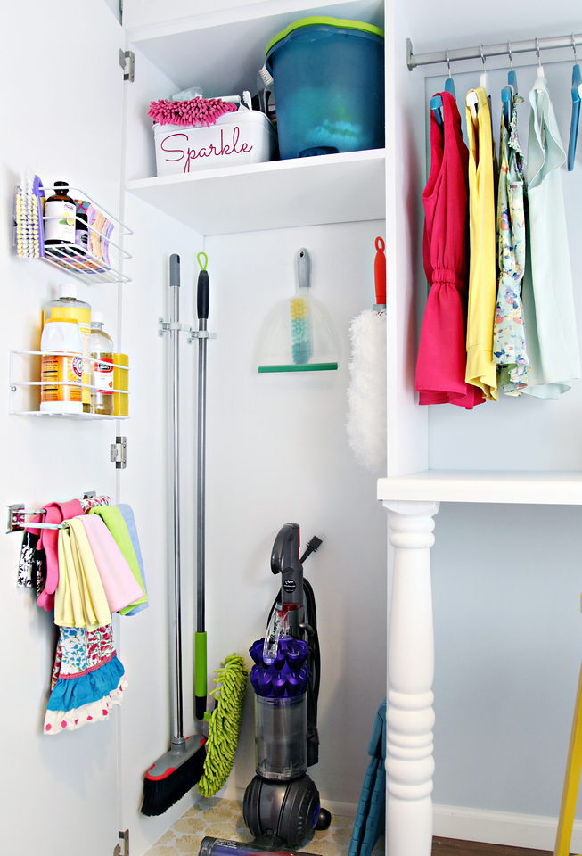 Organized Cleaning Cabinet