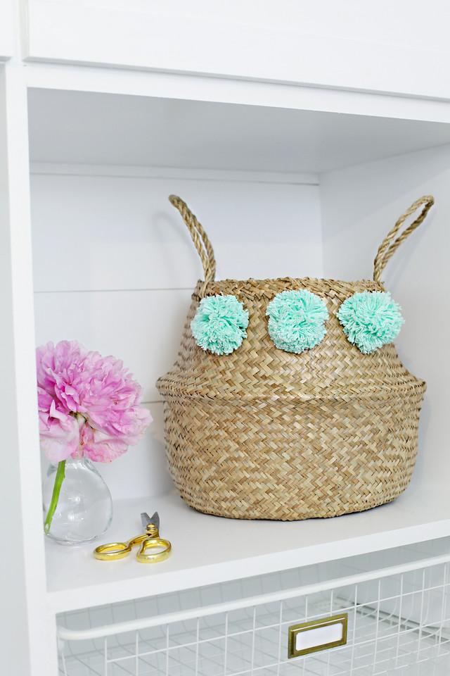 DIY Pom Pom Basket