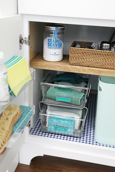 Under the Laundry Room Sink Organization