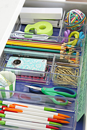 Organized School Supply Drawer