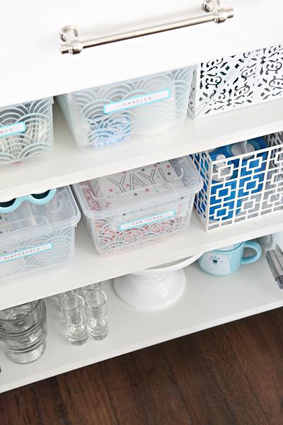 Organized Entertaining Cabinets