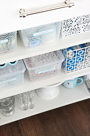 Organized Entertaining Cabinets